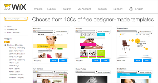 Online Store Website Templates Wix