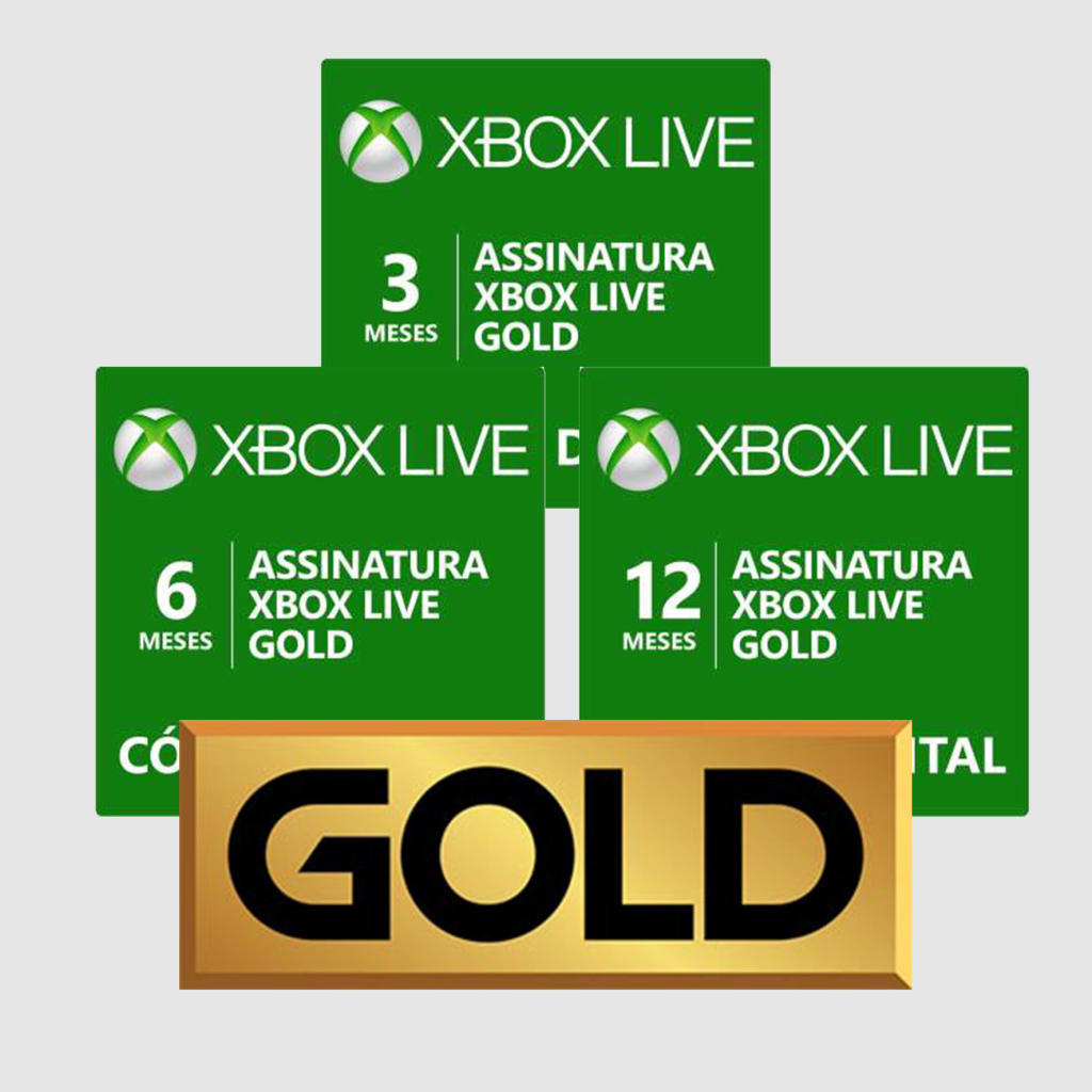 Suscripcion Xbox Live Gold 1 Mes Assinatura Xbox Live Gold Código Digital 3 Meses R