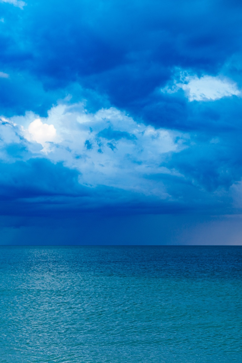 Black And White Flower Wallpaper Blue Ocean With Cloudy Sky 183 Free Stock Photo