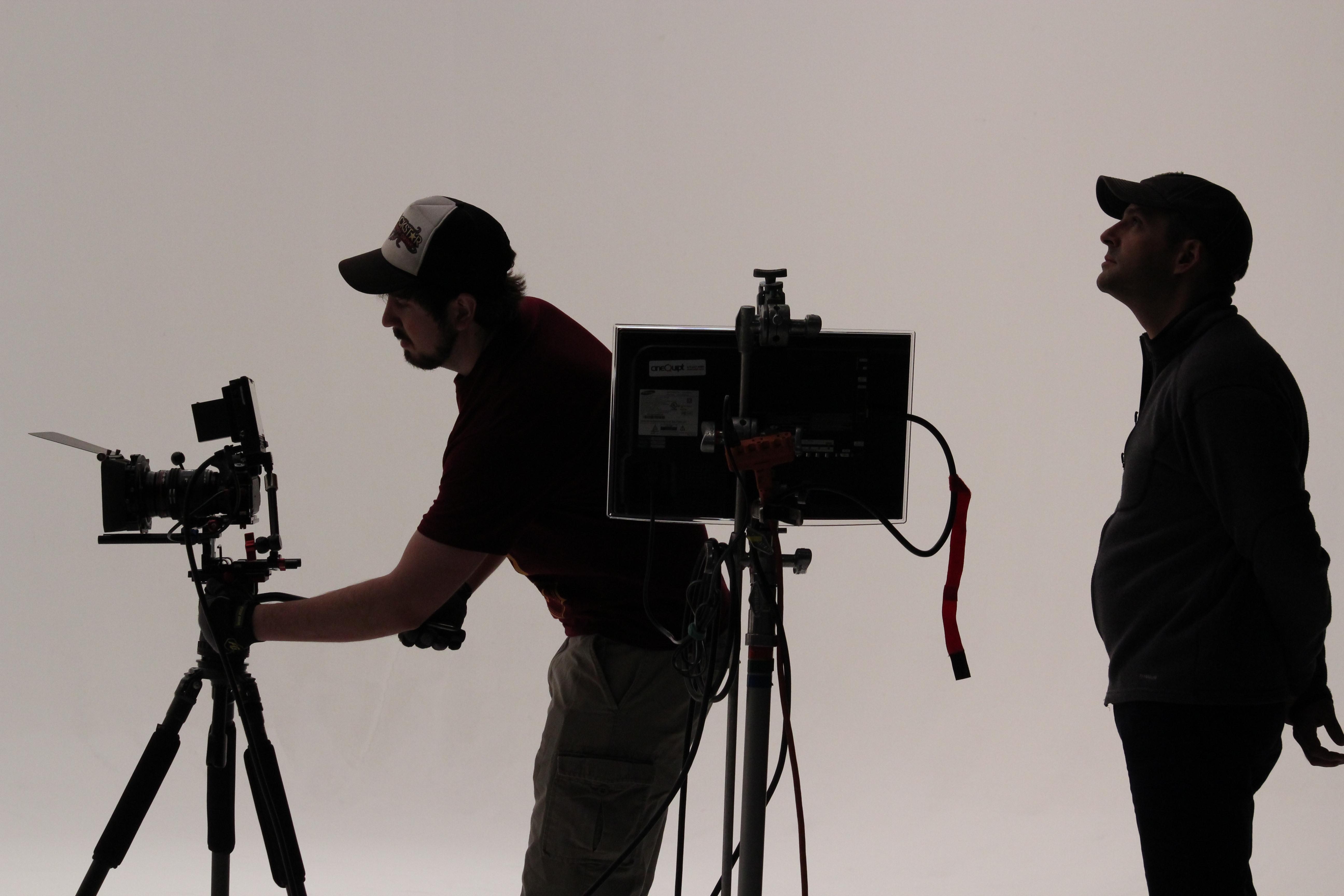 Black And White Flower Wallpaper Free Stock Photo Of Film Crew On Set In Studio