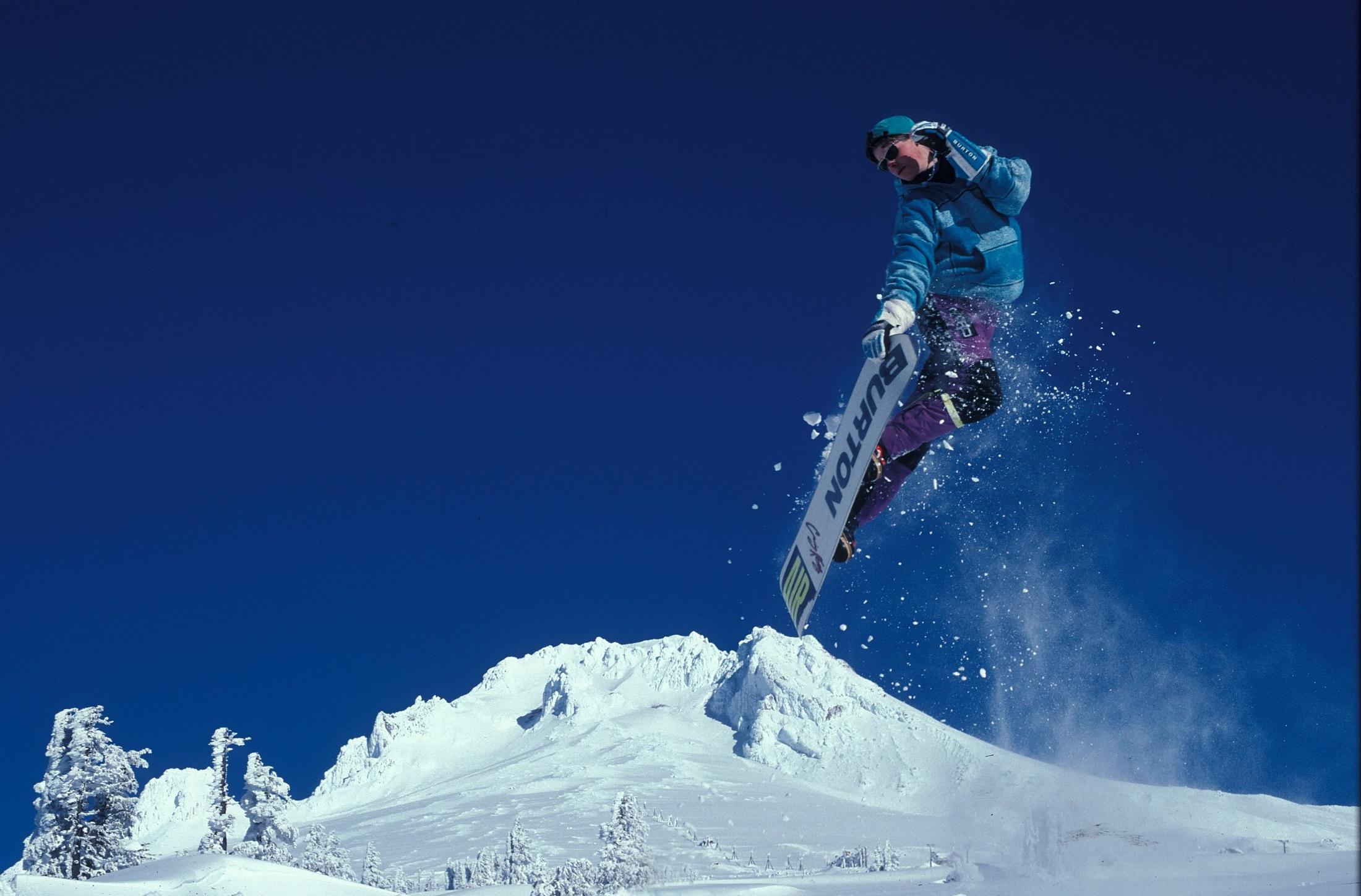 Black And White Flower Wallpaper Man Snowboarding During Daytime 183 Free Stock Photo