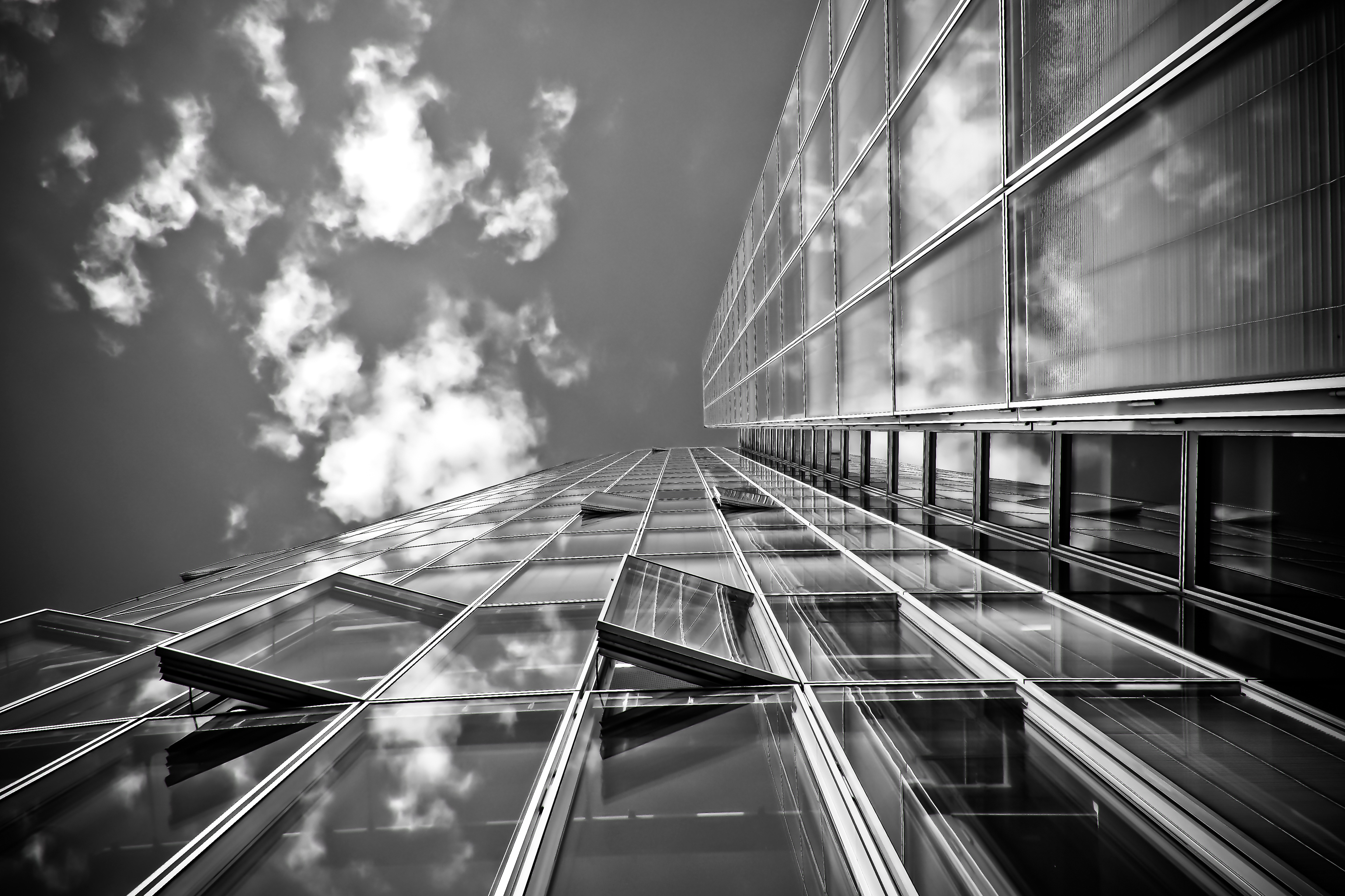 Black Pattern Wallpaper Grayscale Of Building Durngdaytime 183 Free Stock Photo