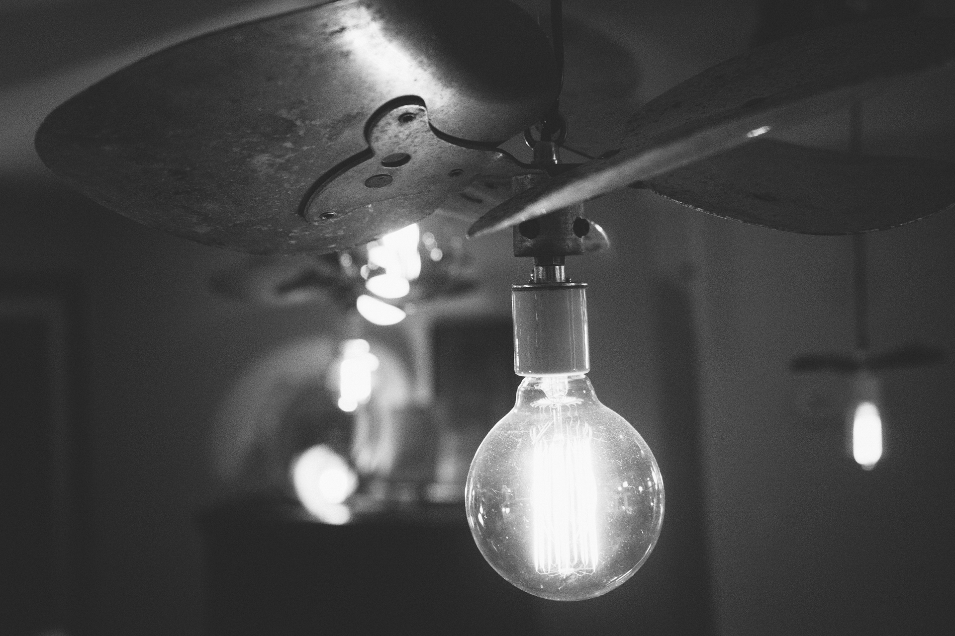 Black And White Lamp Free Stock Photo Of Black And White Idea Light Bulb