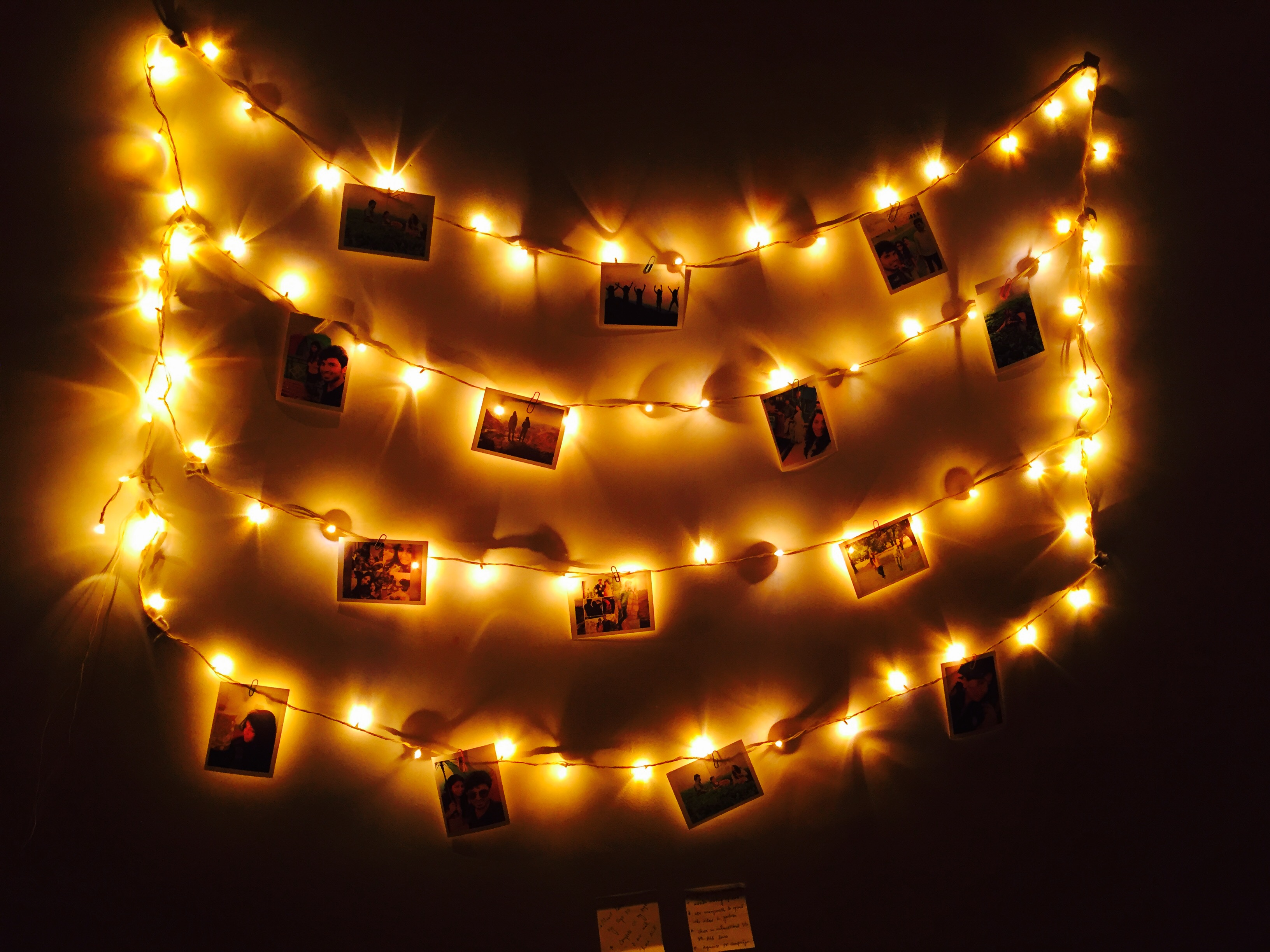 Cozy Fall Hd Wallpaper Lit Hanging Photo Frames 183 Free Stock Photo