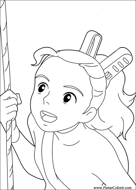 arrietty coloring pages coloring pages