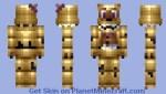 Fred Bear F NaF Nightmare Minecraft World Skins