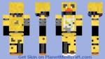 Ignited Chica Minecraft Skin