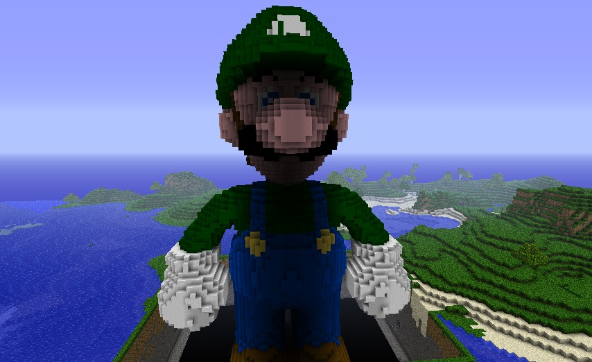 Mario 3d Wallpaper Luigi 83 Blocks High Minecraft Project