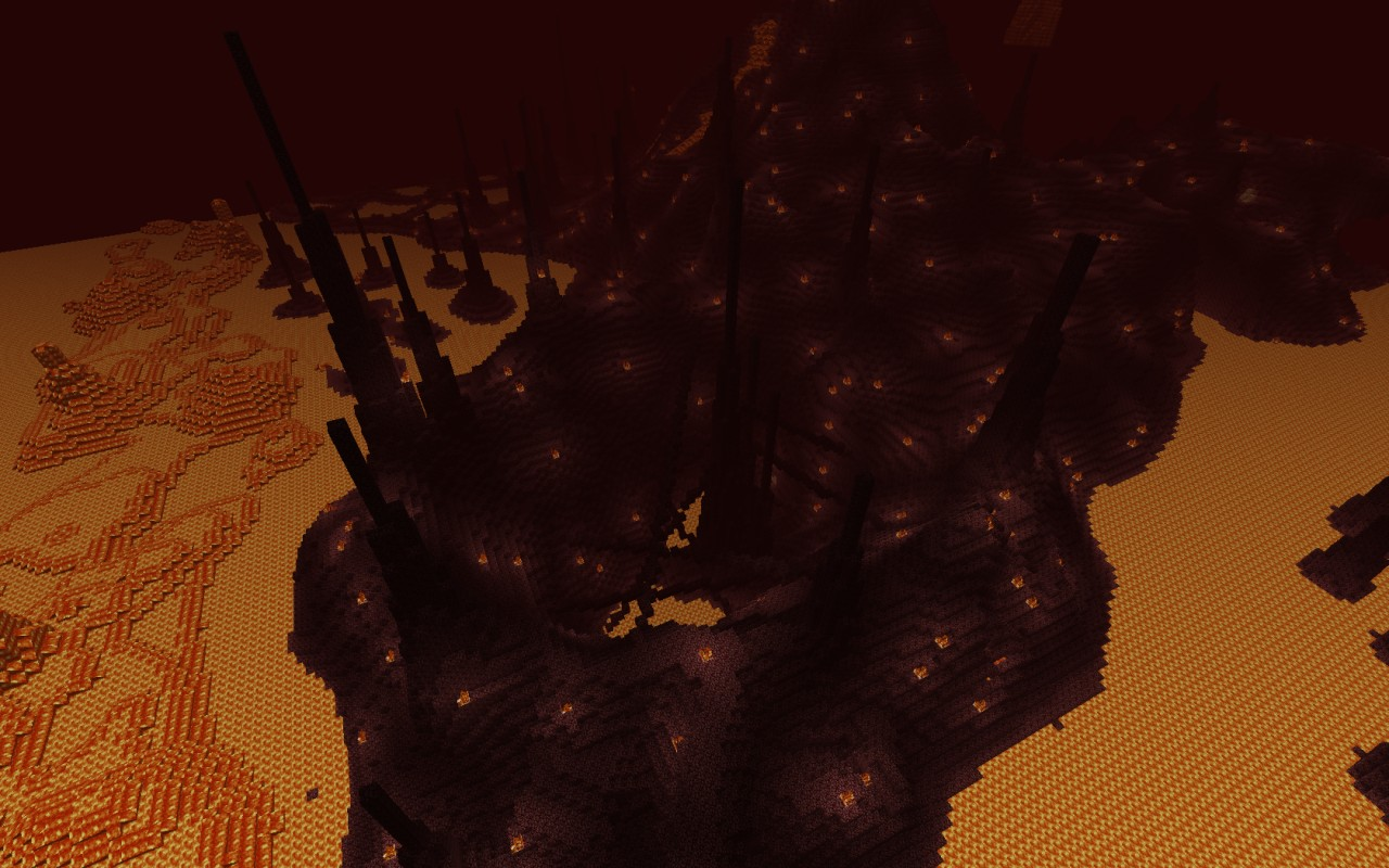 Custom Terrain Nether Nightmare Minecraft Project