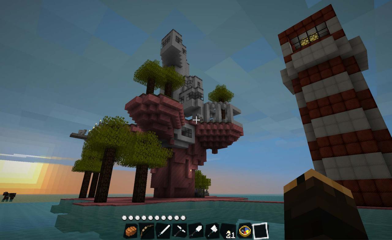 Wallpaper Minecraft 3d Gorillaz Plastic Beach Minecraft Project