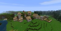 minecraft default village of normal world Minecraft Project