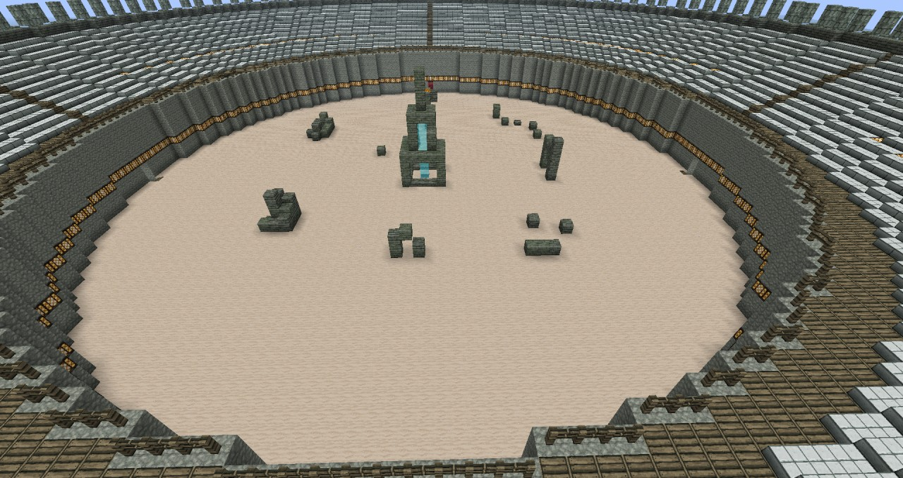 Booth Seating Huge 101 Block Diameter Circular Arena Minecraft Project