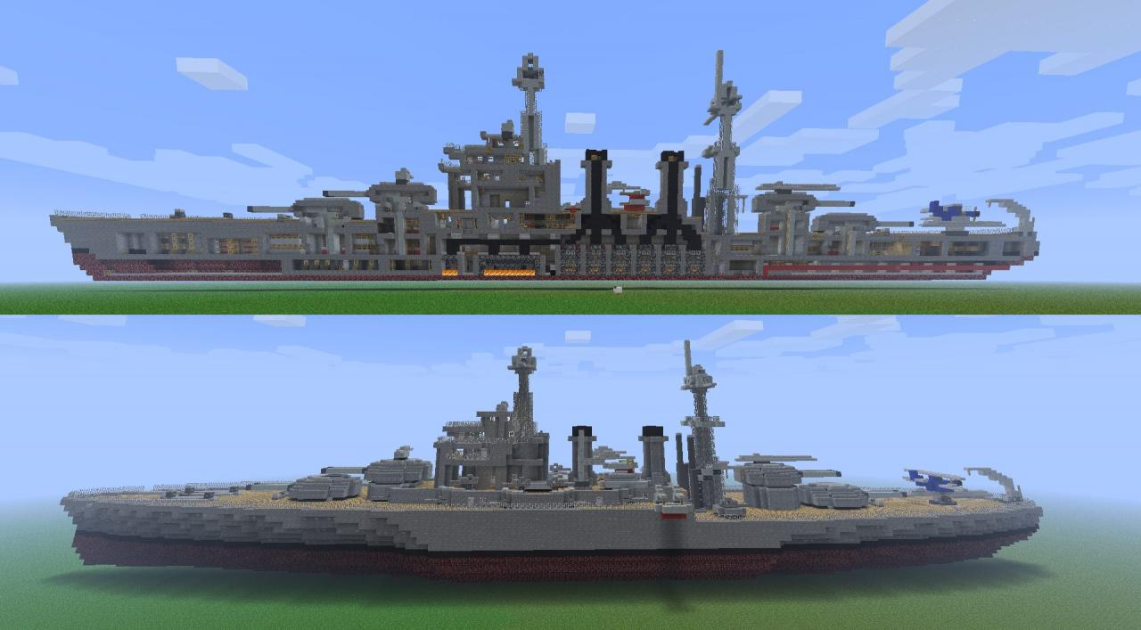 Innenausstattung Minecraft Battleship Uss Maryland Bb 46 Minecraft Project