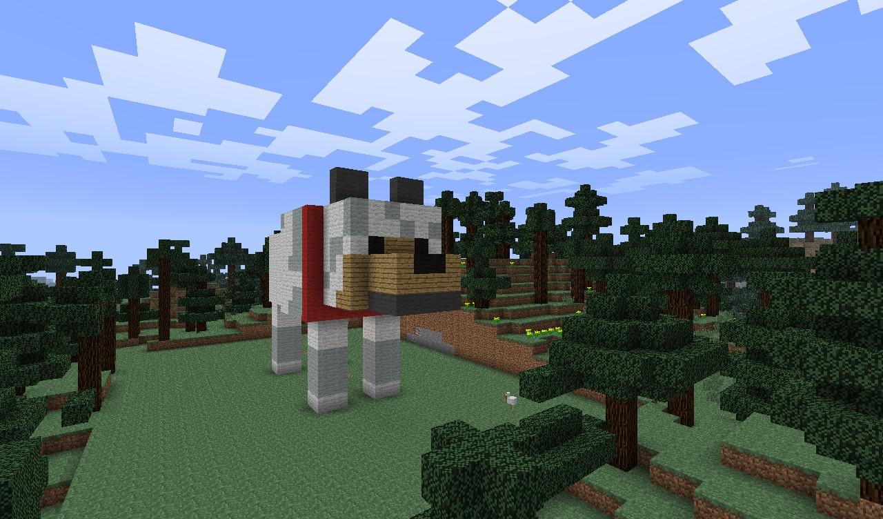 Wolf Statue/Art Minecraft Project