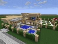 Modern Sandstone Mansion Minecraft Project