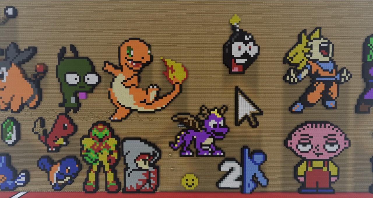 Minecraft Wallpaper Enderdragon Cute Pixel Art Gallery Minecraft Project
