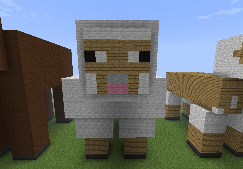 Sheep Statue Minecraft Project