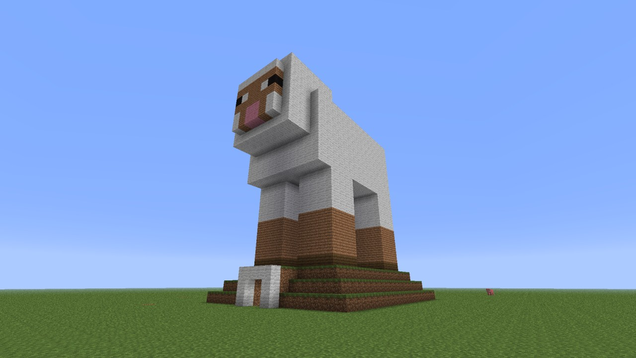 Sheep Shaped Wool Farm Minecraft Project