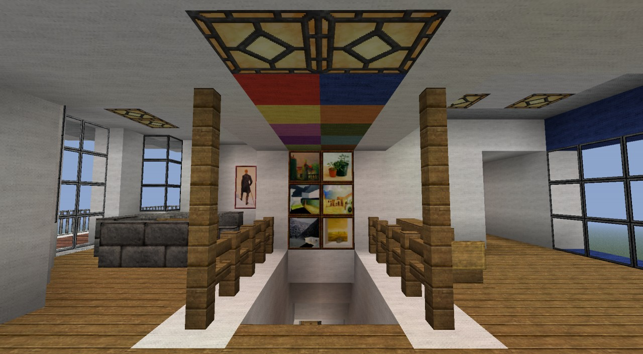 Images Of Modern Front Doors Modern Mansion With Piston-elevator Minecraft Project
