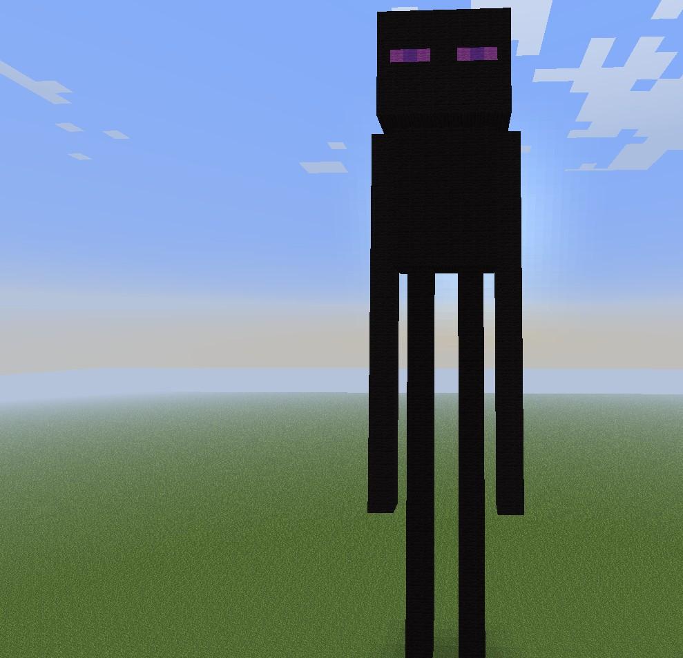 Enderman Pixel Art Minecraft Project