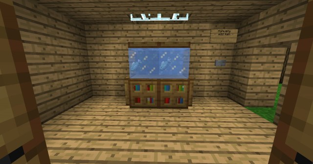 Auto Re Filling Fish Tank Minecraft Project