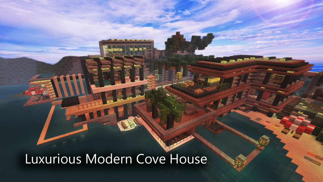 Minecraft Kitchen Mod 1.8 1 8 Luxurious Cove House Map Download Minecraft Forum