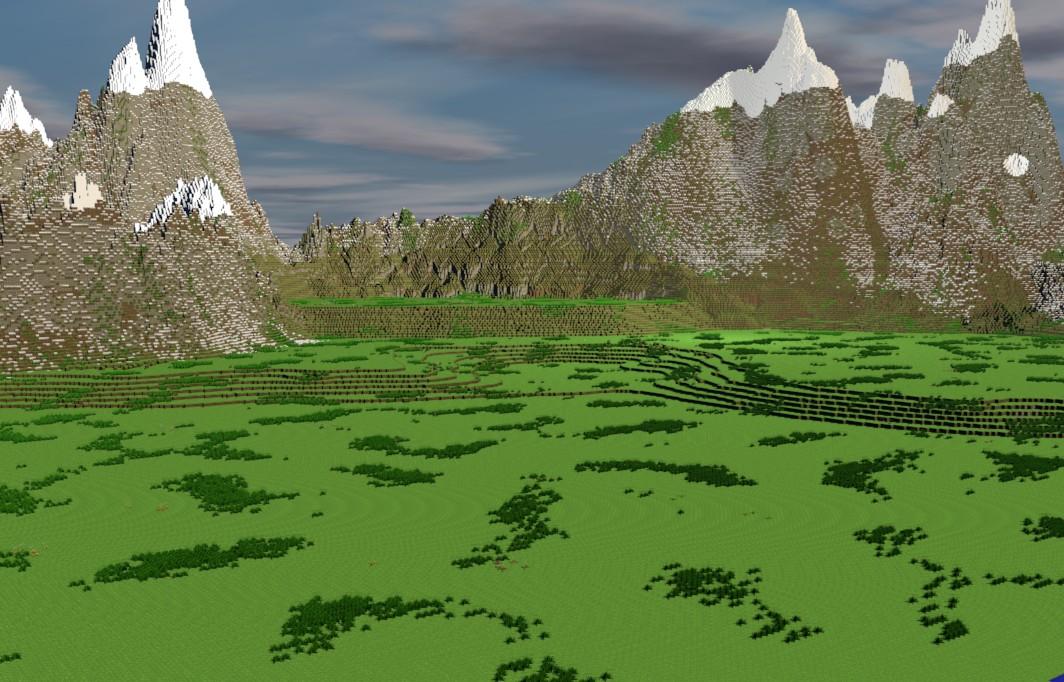 Scandinavian Wallpaper Hd Custom Terrain Nordic Landscape Render Minecraft Project