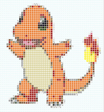 Charmander Pixel Art Template Minecraft Blog - minecraft pixel art template