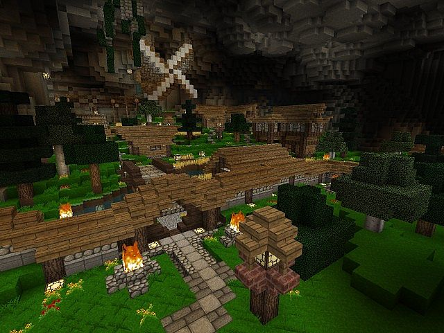 Cave Village Minecraft Project