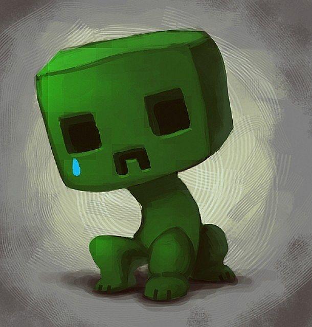 Minecraft Creeper Iphone Wallpaper The Little Sad Creeper Minecraft Blog