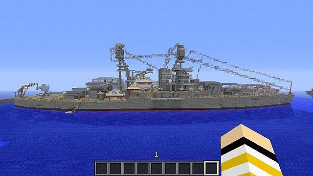 Feature Wall Wallpaper 3d Uss Arizona Battleship Minecraft Project