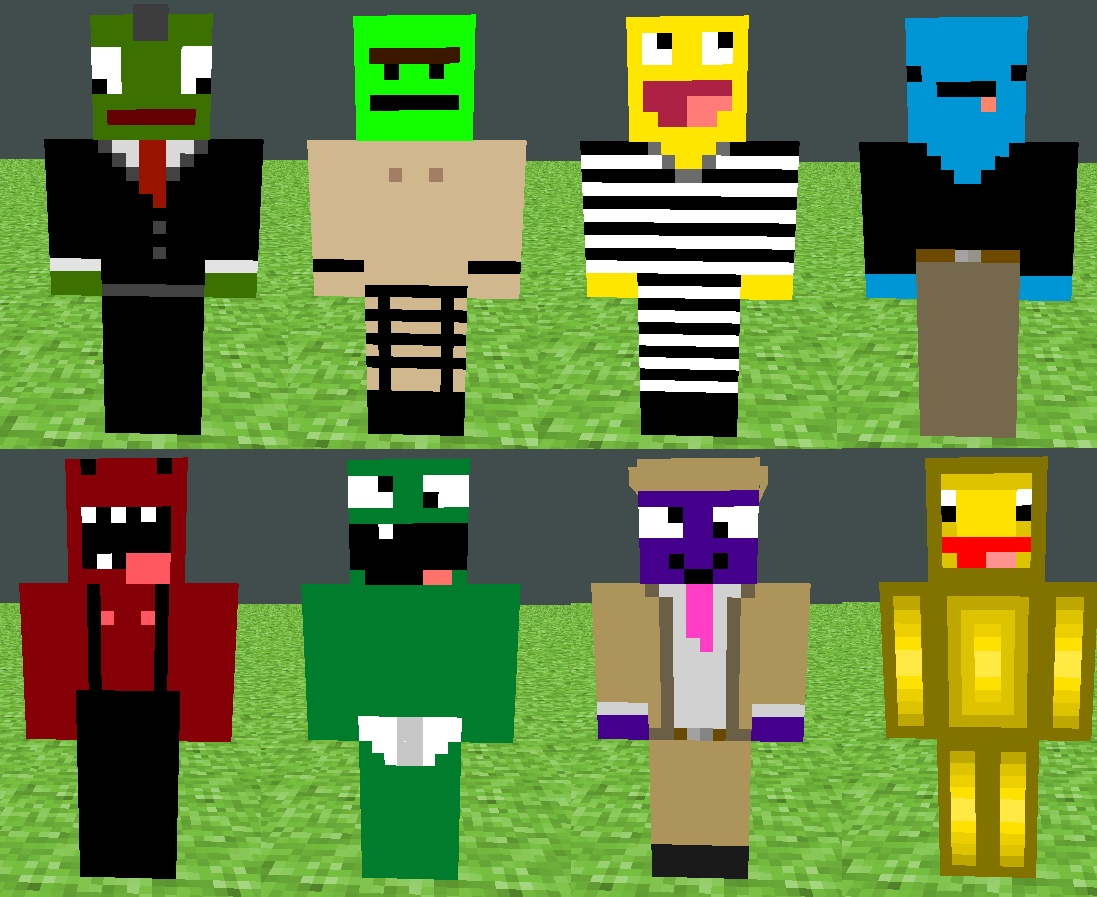 Minecraft Characters Faces Derp Skin Pack Minecraft Project
