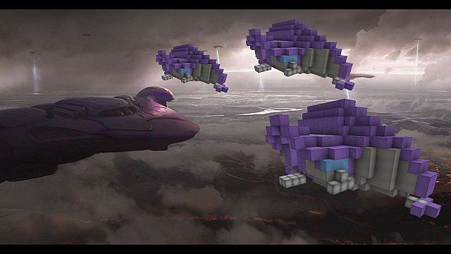 Feature Wall Wallpaper 3d Halo Type 52 Covenant Phantom Troop Transport