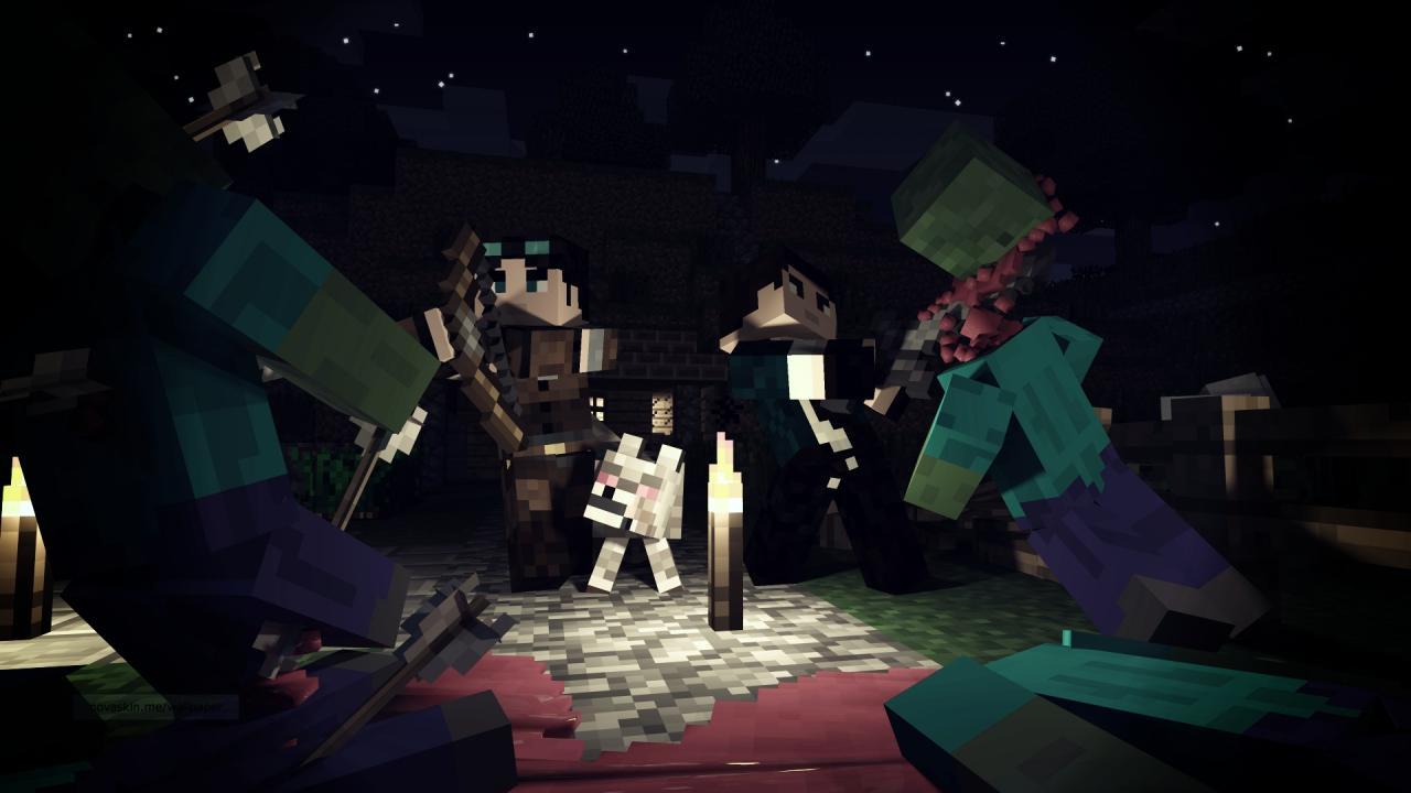 Minecraft Wallpaper 3d Herobrine Epic Fight Scene Minecraft Blog