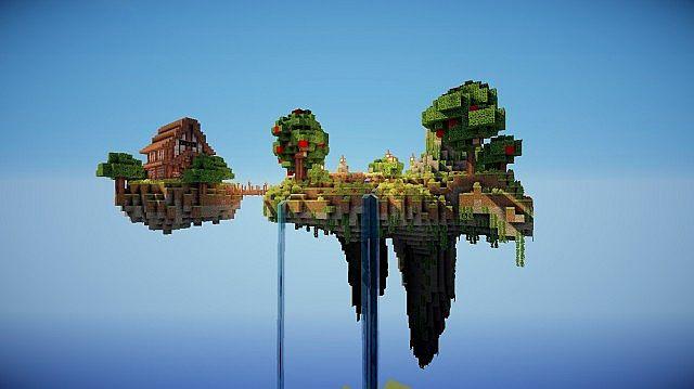3d Server Wallpaper Floating Islands Pack Minecraft Project