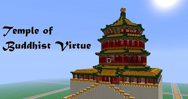 Bts 3d Wallpaper Temple Of Buddhist Virtue Minecraft Project