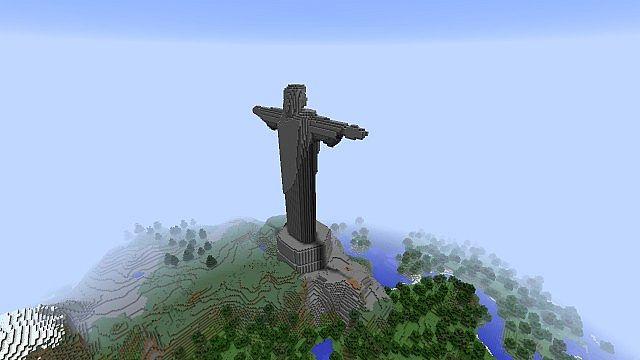 Wallpaper Jesus Christ 3d Christ The Redeemer Statue Minecraft Project