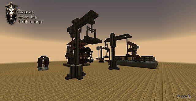 Cranes 6-pack bundle Schematics Minecraft Project