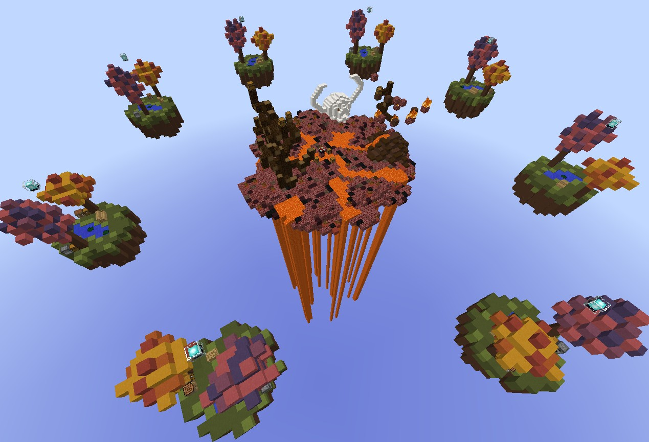 3d Wallpaper Feature Wall Skywars Map Wasteland Minecraft Project