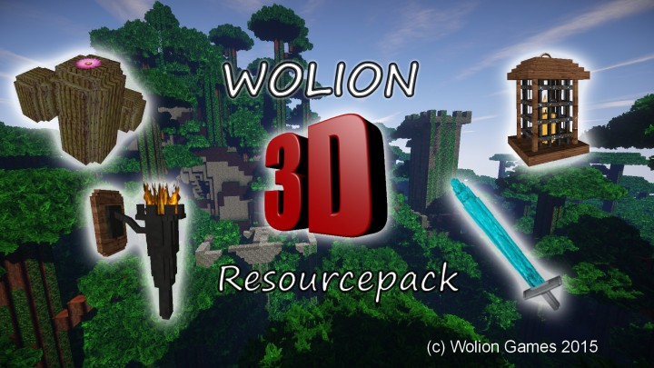 Wolion 3D resource pack 18x 64px 128px (standalone