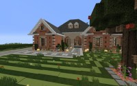 Large Suburban House Minecraft Project