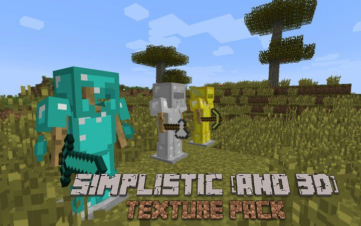 Simplistic (and 3d) Textures Minecraft Texture Pack