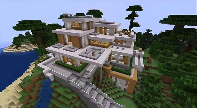 Top 10 Interieur Blogs Modern House #7 Minecraft Project