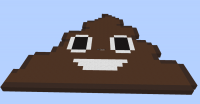 Shit Emoji in minecraft Minecraft Project