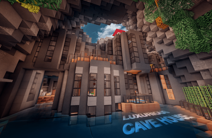 Luxurious Cave House Minecraft Project