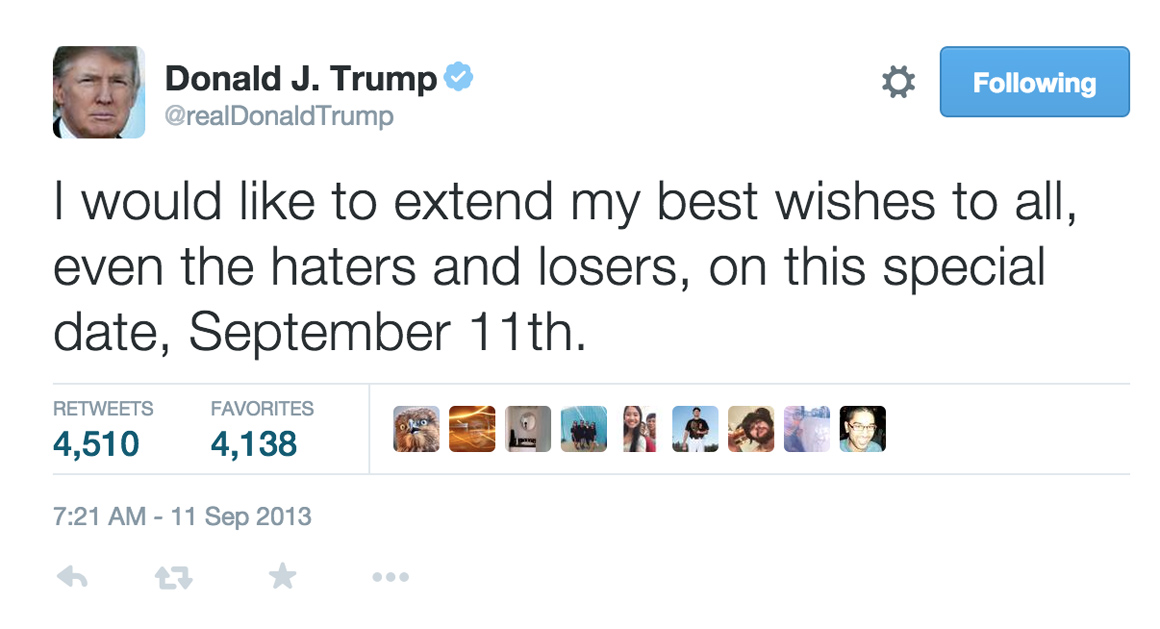 Dirty Harry Quotes Wallpaper Trump S Haters And Losers Sept 11 Tweet Vanishes Politico