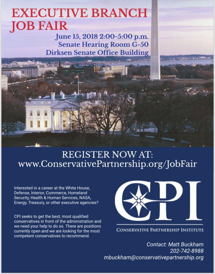 Trump White House recruits at a Hill job fair amid staff exodus