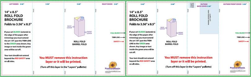 6 panel brochure fold template
