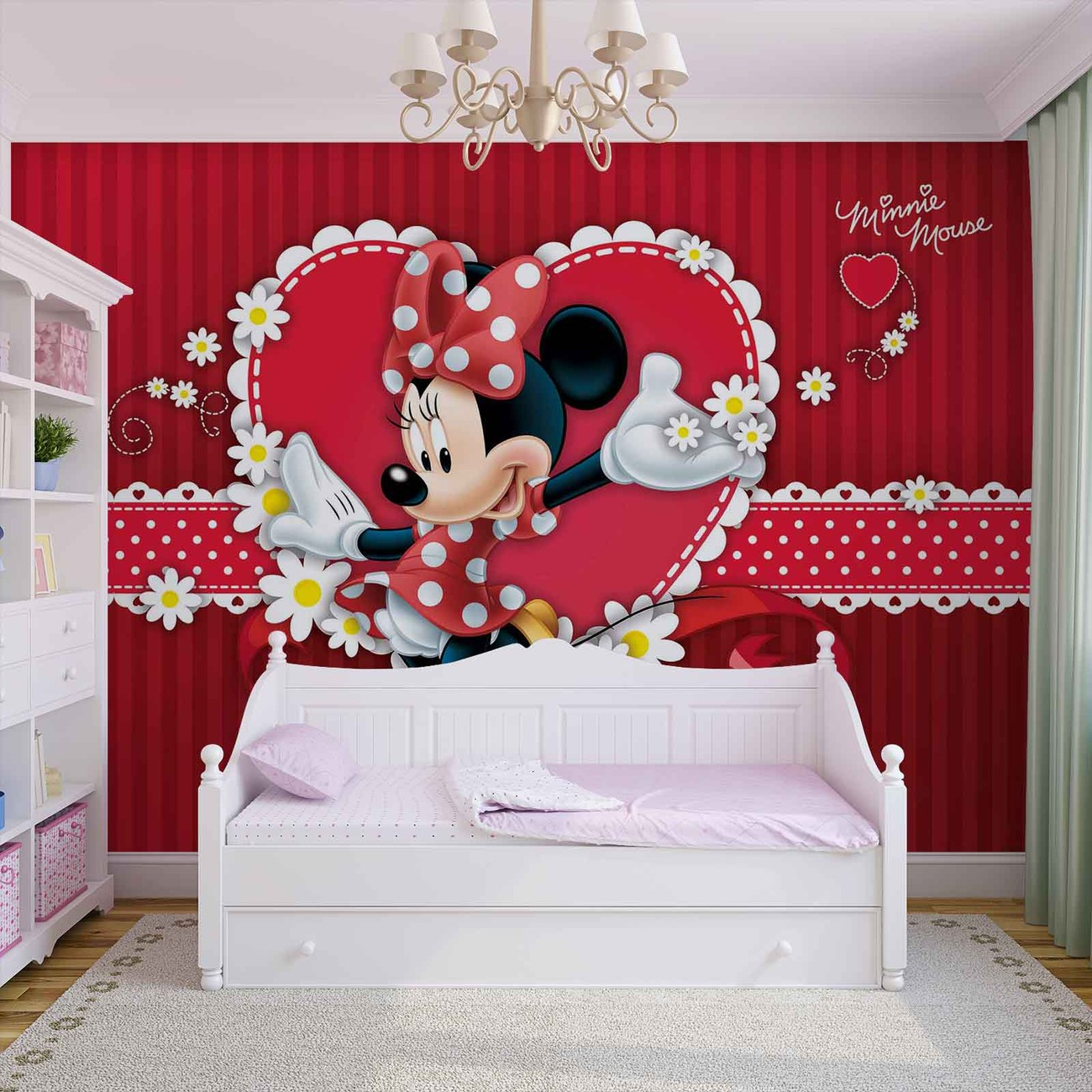 Fototapete Kinderzimmer Minnie Mouse Disney Minnie Mouse Fototapete