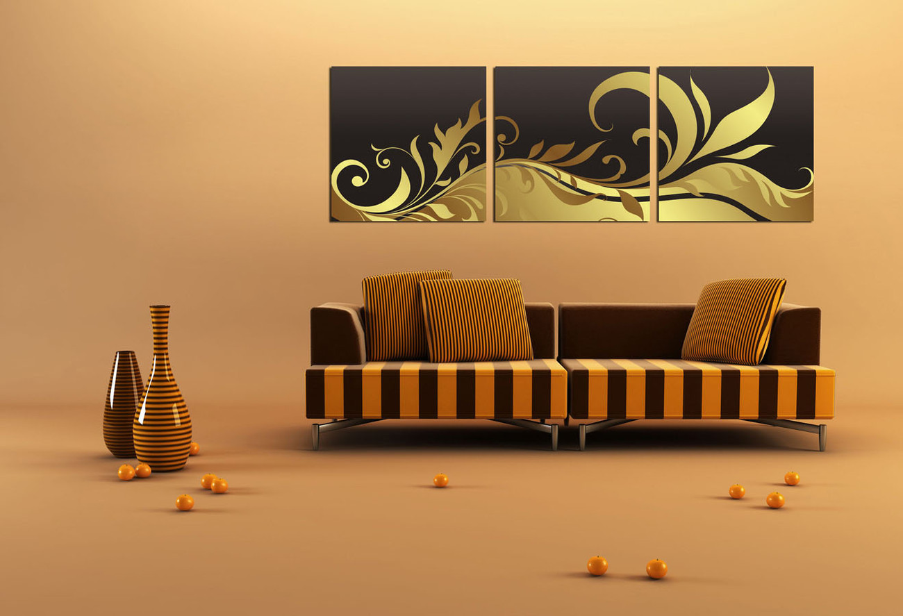 Wandbilder Modern Art Wandbilder Bilder Modern Design Black And Gold